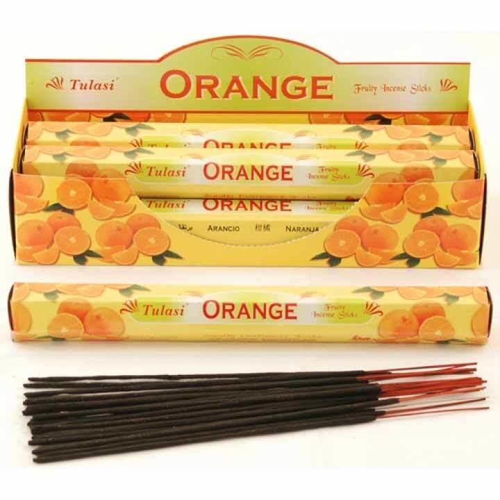 Tulasi Orange Incense Pack - 20 sticks