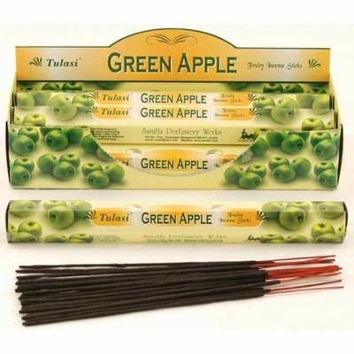 Tulasi Green Apple Incense Pack - 20 sticks