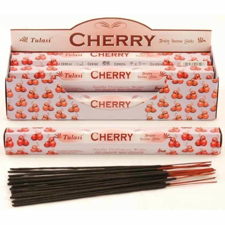 Tulasi Cherry Incense Pack - 20 sticks