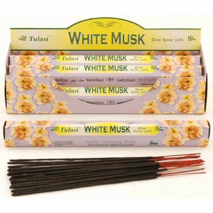 Tulasi White Musk Incense Pack - 20 sticks