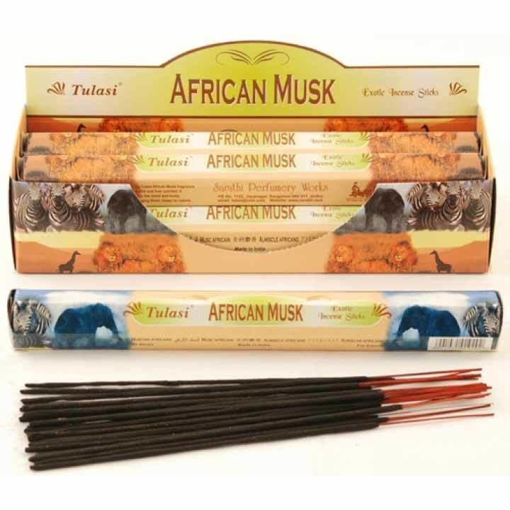Tulasi African Musk Incense  Pack- 20 sticks