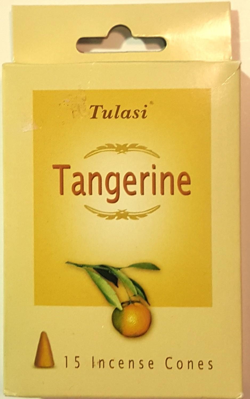 Tulasi Tangerine Cone Incense