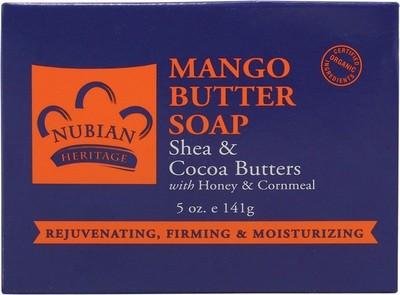 Nubian Heritage Mango Butter Bar Soap - 1 Case (72 Bars)