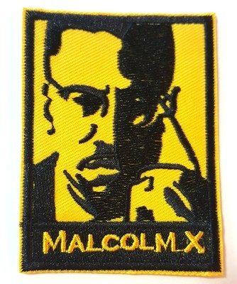 Malcolm X Iron On Patch