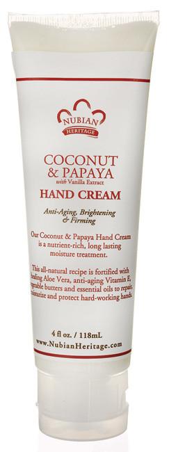 Nubian Heritage Coconut and Papaya 4oz Hand Cream