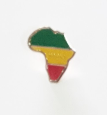 Afrika Map (Green, Yellow, and Red) Pin