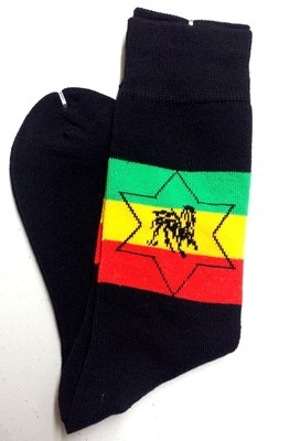 Lion of Judah/Star of David Dress Socks