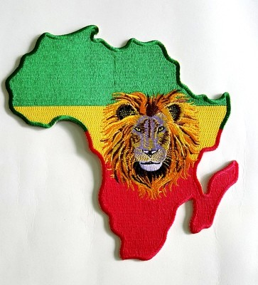 Large Africa Iron On Patch
