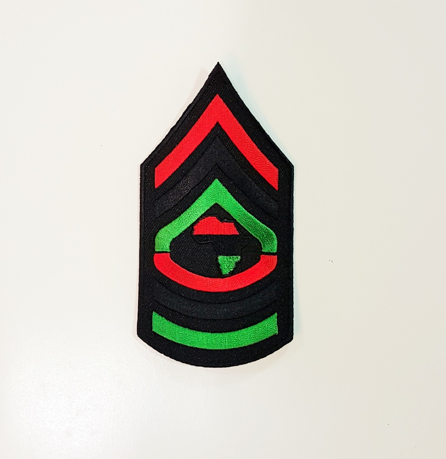 Small Red, Black, and Green Afrika Patch