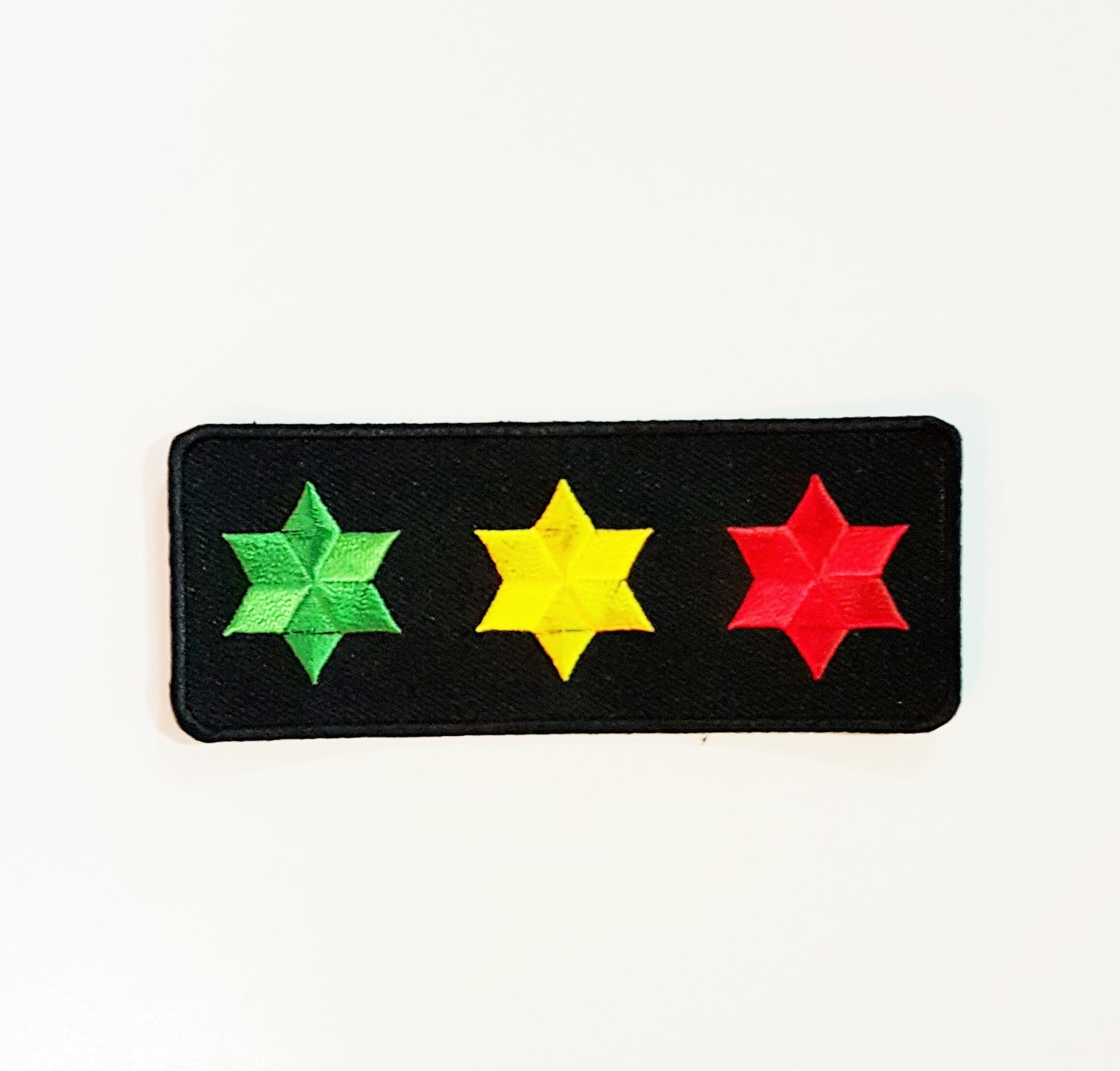Small 3 Star Green, Yellow, and Red Patch
