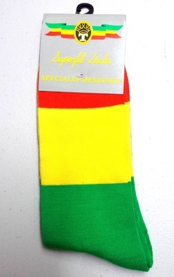 Red, Gold & Green Dress Socks