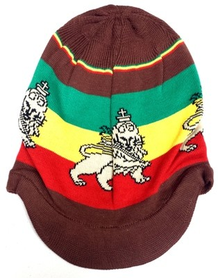 Brown Lion of Judah Rasta Hat