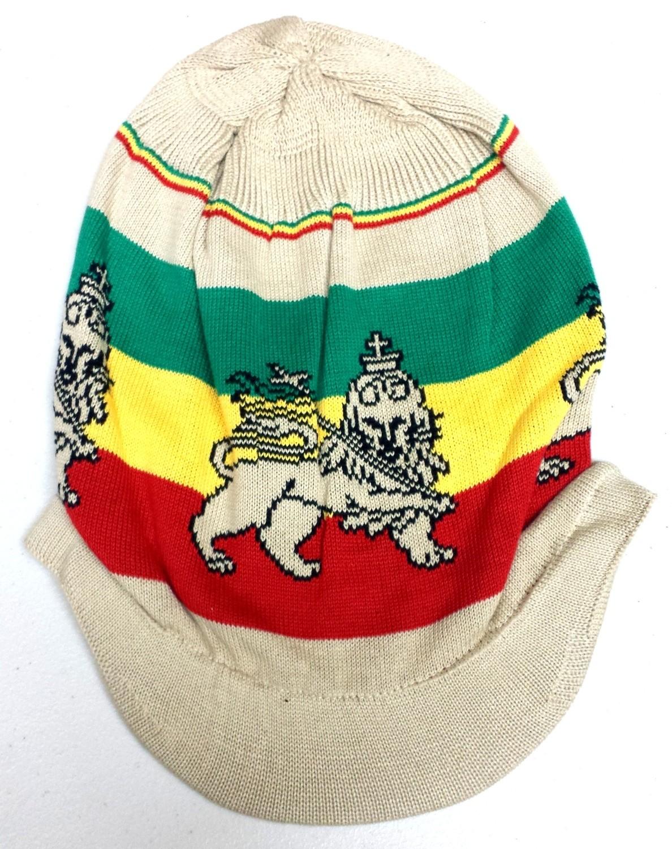 Tan Lion of Judah Rasta Hat