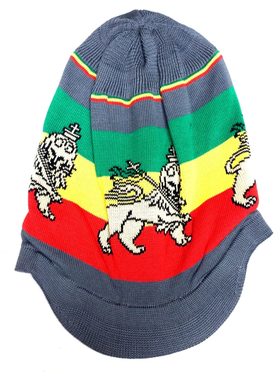 Grey Lion of Judah Rasta Hat  Approx. 12 inches tall