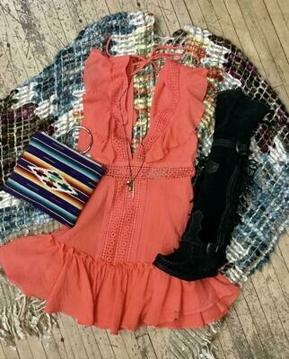 Hyfve FL20F640 Orange Dress
