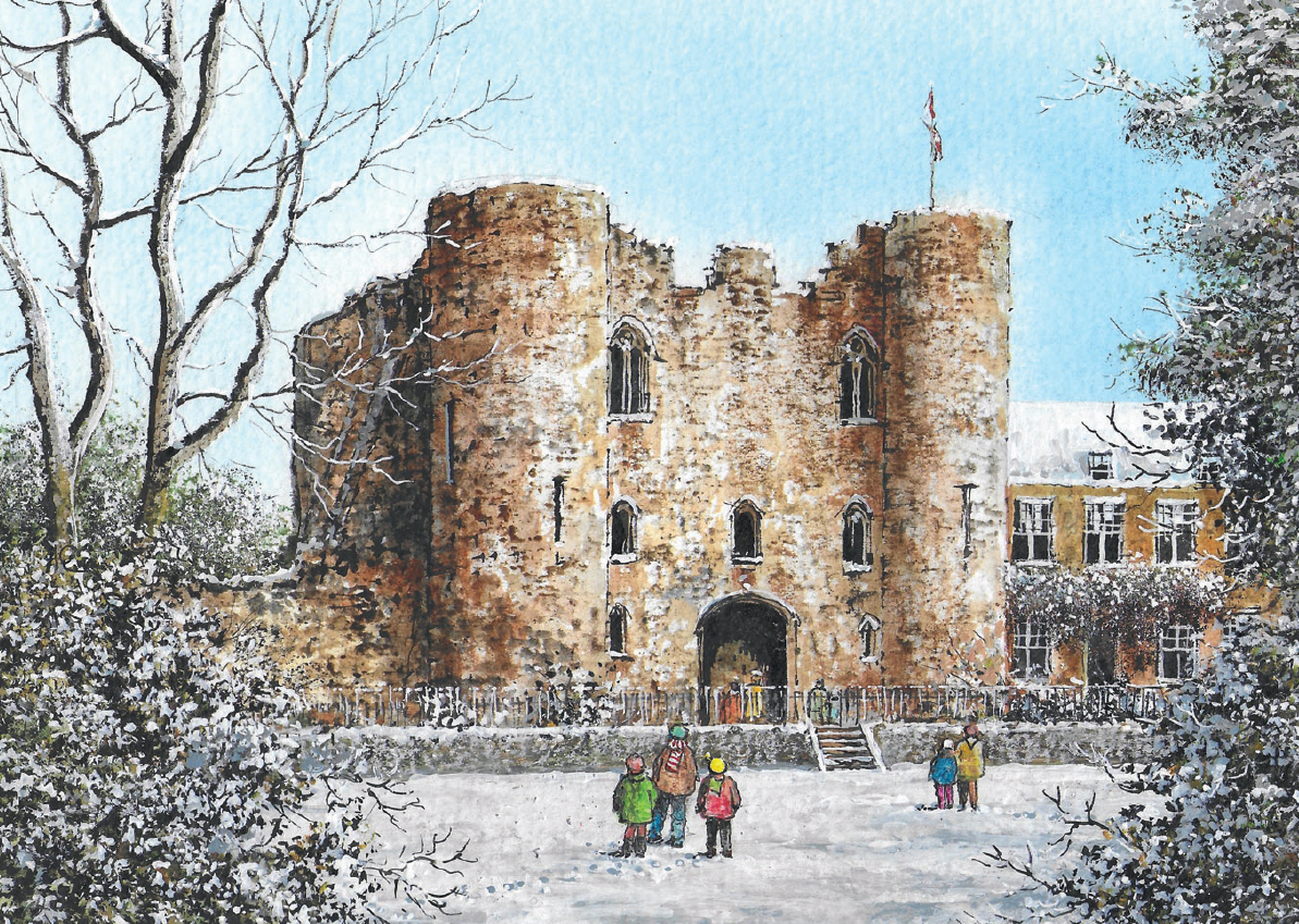 Tonbridge Castle in Winter