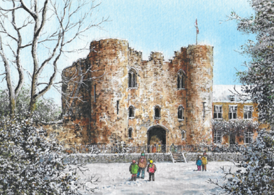 Tonbridge Castle in Winter