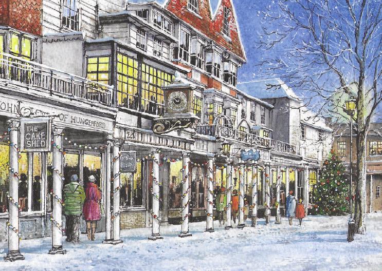The Pantiles, Tunbridge Wells at Christmas