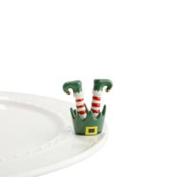 Nora Fleming Jingle Toes Elf Feet Mini