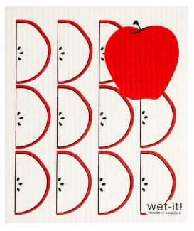 Wet-It Apples Swedish Dishcloth