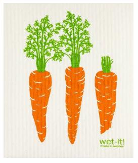 Wet-It Carrots Swedish Dishcloth