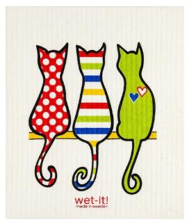 Wet-It Multi Cats Swedish Dishcloth