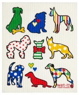 Wet-It Multi Dogs Swedish Dishcloth
