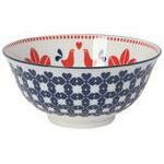 Now Designs 6 in Bowl - Red & Navy Bird