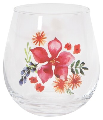 Now Designs Stemless Wine Glass - Botanica