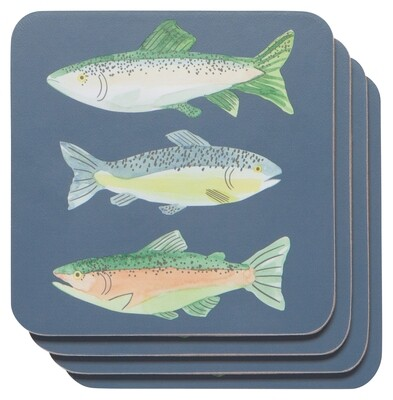 Now Designs Coaster Set - Gone Fishin'
