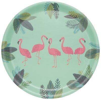 Now Designs Willow Tray - Flamingos