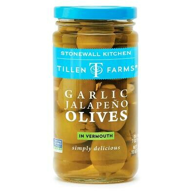 Stonewall Kitchen Garlic Jalapeno Olives (Tillen Farms)