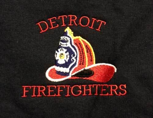 Detroit Fire Department Classic Crew Neck Sweatshirt With Helmet