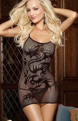 Dragon Desire Fishnet Dress