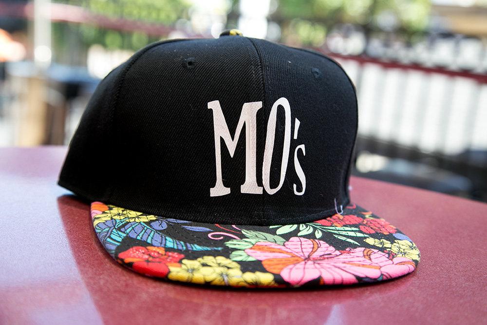 Black Floral Brim Hat