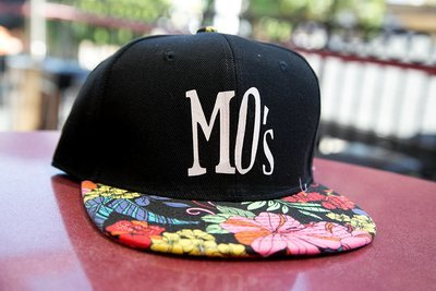 Black Floral Brim Hat