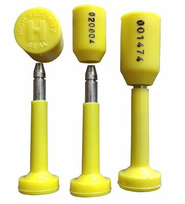 RAIBEX Container Seal OTL Container Security Seal One Time Lock Container Bolt Seal Tamper Seal 500 PCS (Yellow Color)