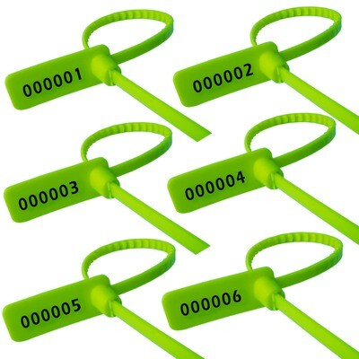 Plastic Security Seal Pull Tight Small Security Tag Plastic Grip Seal 2000 PCS Green Color