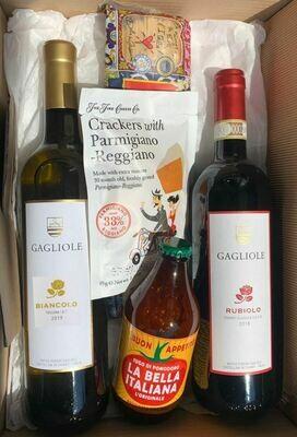 Toscana-Set (2 Flaschen à 75cl + Spezialitäten)