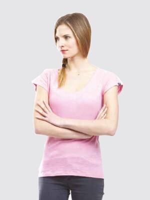Switcher slub T-Shirt Boat neck Jasna