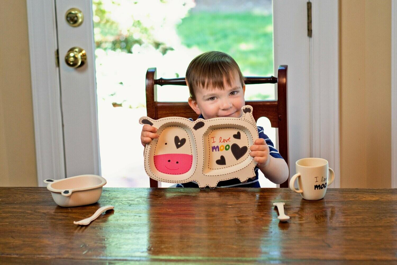 Eco-Friendly Learning from the Start - Bamboo Children Dinner Set