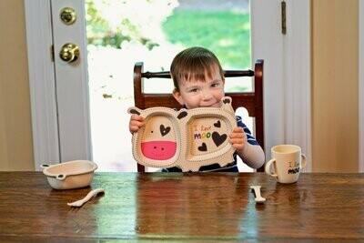 Eco-Friendly Learning from the Start - Bamboo Children Dinner Set