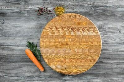 Larch Wood Canada Round Cutting Board