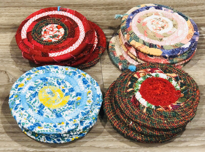 Wrapped Rope Coasters Set of 4