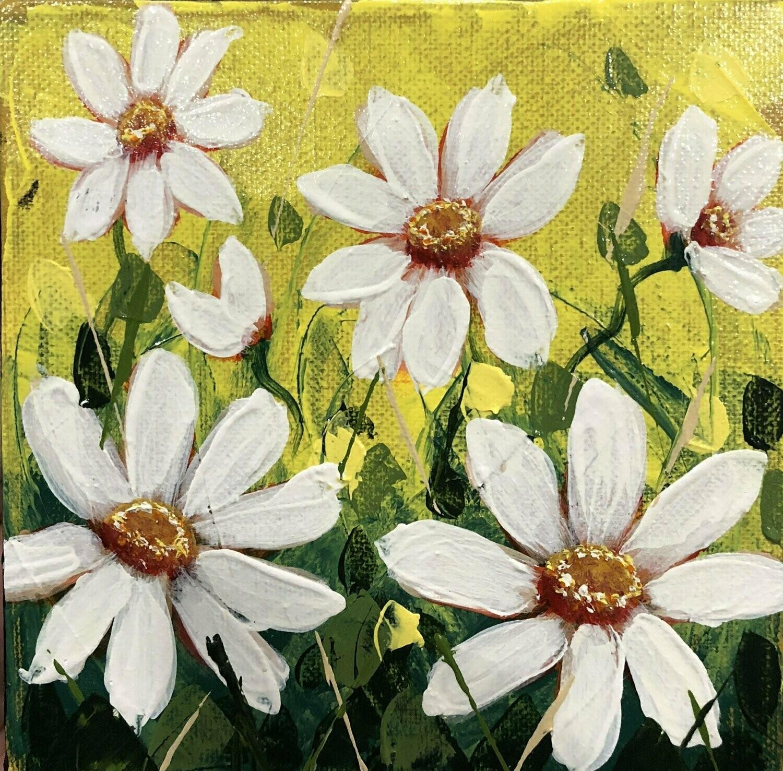 Sun Kissed Daisies 6x6