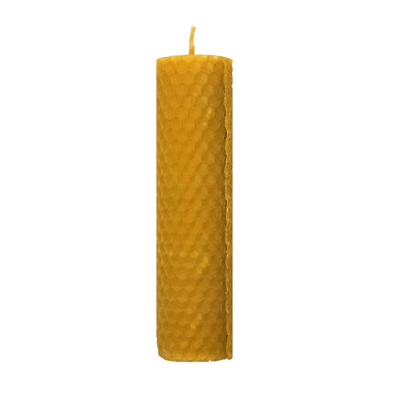 Свеча из вощины с белым шалфеем