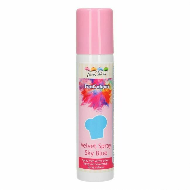 FunCakes FunColours Velvet Spray Sky Blue 100ml