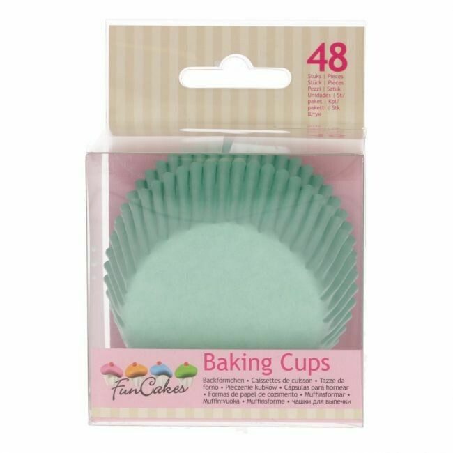 FunCakes Baking Cups -Mint Green- pk/48