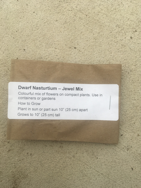 Dwarf Nasturtium- Jewel Mix -12 Seeds
