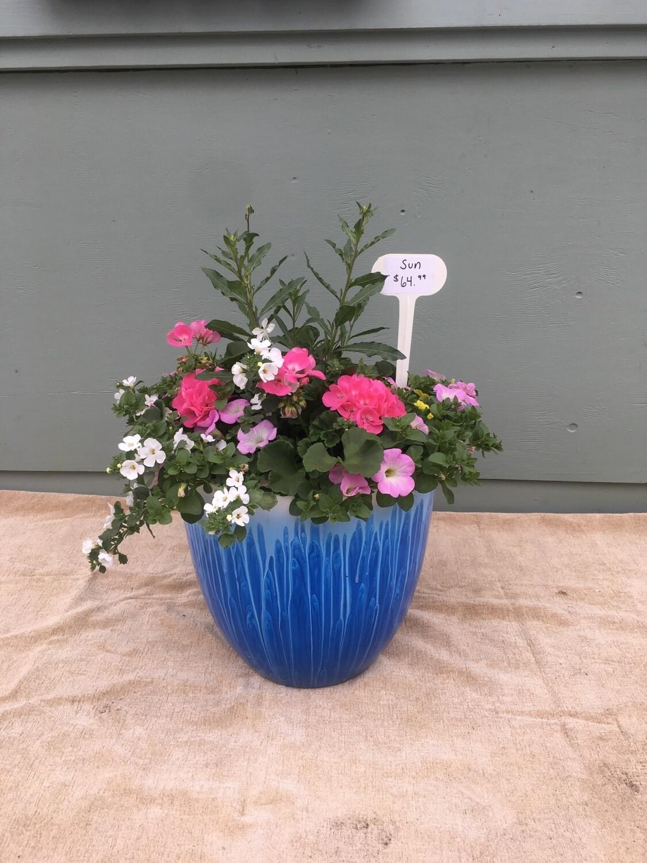 """15"""" TALL Light Blue Plater Pot"""